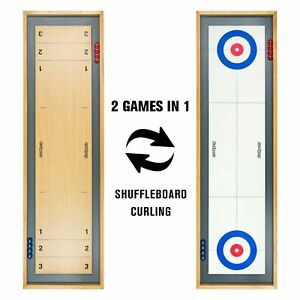 ⭐NEW IN BOX⭐ GO SPORTS DOUBLE SIDED SHUFFLE BOARD / CURLING TABLETOP GAME