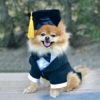 Pet Dog Funny Graduation Hat With Yellow Tassel Graduate Costume Fancy Dress 520