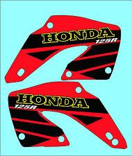 2000-2001 Honda CR 125 radiador scoop gráficos, calcomanías, Pegatinas