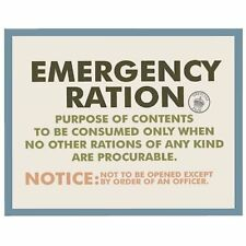 Emergency Ration Postcard Retro Official New