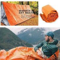 Outdoor Survival Camping Notfall Warmer lebensrettender Schlafsack J2U2