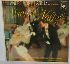 Andre Kostelanetz and His Orchestra Strauss Waltzes LP Columbia CL 805 VG/VG-