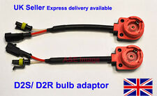 PAIR D2S D2R HID XENON BULB HARNESS CABLE WIRE CONNECTOR SOCKET ADAPTOR LOOM