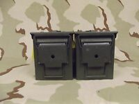 2(Two) M2A1 50cal Ammo Cans Very Good  Condition GI Military Army Surplus