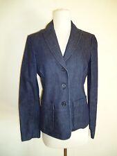Gap Navy Blue blazer jeans Jacket stretch Size 4 New