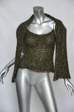 CHANEL Womens Nubby Knit Mohair Boucle Tank/Cami Top Blouse+Scarf SET S/34 NEW