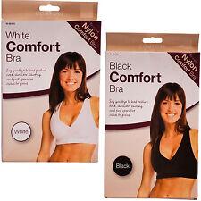 UK Womens Leisure Nylon Comfort Sexy Seamless microfiber Stretch Top  Bra