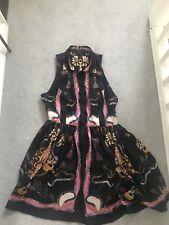Topshop Size 14 Sleeveless Button Down Tea Skater Dress Chain Print