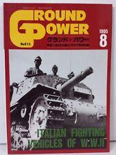 Ground Power Magazine Book WWII Tank Vehicles Photos Japan #15 August 8 1995