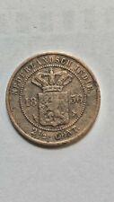 1856  2&1/2 COPPER GULDEN COIN  DUTCH EAST INDIES SPICE TREASURE UTRECHT MINT