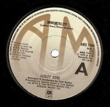 LESLEY GORE Immortality Vinyl Record 7 Inch A&M AMS 7184 1975