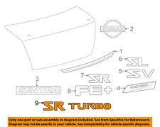 NISSAN OEM 17-18 Sentra Trunk Lid-Emblem Badge Nameplate 848954FY0A