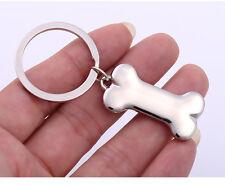 Cartoon Creative Rock Metal Silver Toy Bone For Dog Pendant Key ring Key Chain