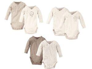 2 pack Organic 100% Cotton Baby Sleepsuite Bodysuits Long Sleeve Boys Girls