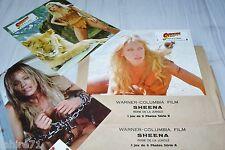 SHEENA reine de la jungle ! jeu 12 photos cinema lobby cards , comics marvel bd