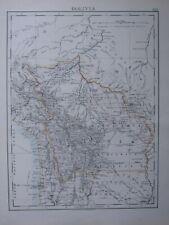 1916 Map Bolivia Potosi Oruro Santa Cruz Cochabamba