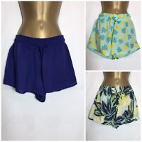 M&S Lightweight Elastic Waist Beach Shorts 3 Prints Size 8 - 24 (ms-279rt)