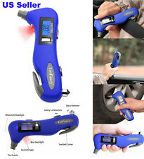 Digital Tire Gauge Tyre Air Pressure 5 in 1 Emergency Tool LCD By LotFancy