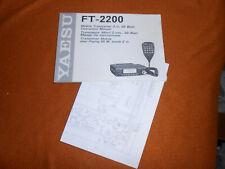 Kenwood FT-2200 Original Manual