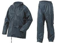 Lightweight Waterproof Rain Jacket & Trousers Navy Nylon size 5XL