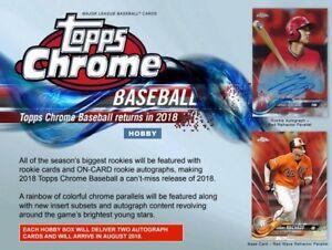 2018 Topps Chrome Baseball Live 12 Hobby Box Case Player Break