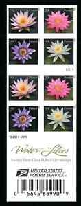 4974 4967d Water Lilies Booklet of 20 Forever Stamps USPS forever IMPERF