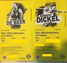 2 (4)Tickets Borussia Dortmund BVB - TSG Hoffenheim / Ost