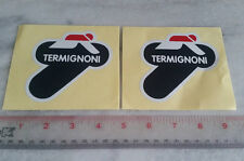2 X Termignoni Heat Resistant Foil Sticker Exhaust Decals DUCATI 748/916/851/888