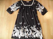 FIFILLES Paris schönes Hängerchenkleid Schmetterlinge schwarz Gr. 1  ZC616