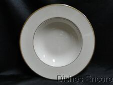 """Lenox Mansfield, Ivory with Gold Trim: Rimmed Soup Bowl (s), Seconds 8 3/8"""""""