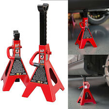Car High Lift Jack Stands 2 Ton Auto Vehicle Support Garage Tools Set 2 Pieces