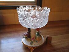 Garanzia CRE.ART Italian Crystal W/Capodimonte Porcelain Pedestal Centerpiece