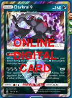 Pokemon Card TCG Darkrai 77/156 Prism Star Online Card PTCGO Digital Card