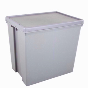 Wham Bam Grey Recycled Storage Boxes with Lids Stackable - ALL SIZES