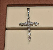 0.50ct Diamond Cross Pendant in 14K White Gold