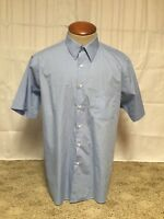 Van Heusen Men's Regular Fit Baby Blue Button Down Dress Shirt 17 Poplin J192