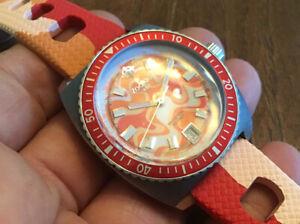 Zodiac Sea Dragon Limited Ed Orange ZO2294 Swiss Made Quartz Watch New Batry