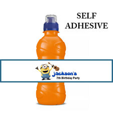 MINIONS PERSONALISED FRUIT SHOOT DRINK BOTTLE LABELS WRAPPERS STICKERS X7