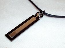 Necklace ~ GUESS   Dual Metal Pendant w/ Leather Cord With~NEW #5410030