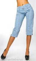 Lotto Stock 10 Jeans Capri Donna Pantaloni Corti MISSY C044 Celeste Tg 38 40 42