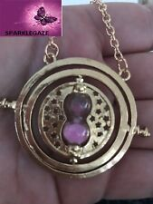 NEW Harry Potter Time Turner Hermione Granger Rotating Spin Hourglass Necklace