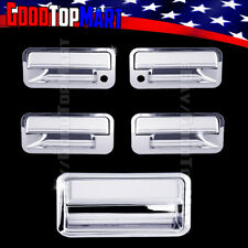 For CHEVY C10 1988-1997 1998 Chrome Covers Set 4 Doors w/ Keyhole+Tailgate w/o K