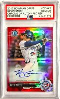 2017 Bowman Chrome KEVIN SMITH RED REFRACTOR Auto PSA 10 Autograph #/5 SSP RC