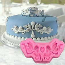 New Angel Scroll Mould Silicone Mould Cake Christening Baptism Holy Communion UK