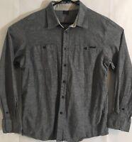 Oakley Men's Button Down Front Shirt Size Large (L) Gray - Cotton / Polyester