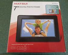 "MATSUI M07DPF09 Black 7"" Digital Photo Frame - Boxed"