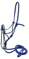 Showman BLUE Nylon Rope Bitless Bridle With Nylon Reins!! NEW HORSE TACK!!