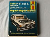 Haynes Repair Manual # 36058 Ford Pick-ups & Bronco 1980-1996