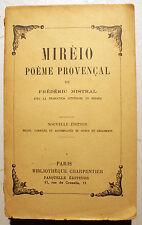 PROVENCAL/MIREIO/F.MISTRAL/ED CHARPENTIER/ED BILINGUE/VERS 1950/OC