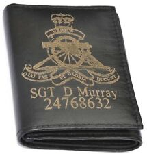 ROYAL ARTILLERY UK ARMY PERSONALISED GENUINE LEATHER WALLET ANY NAME & NUMBER